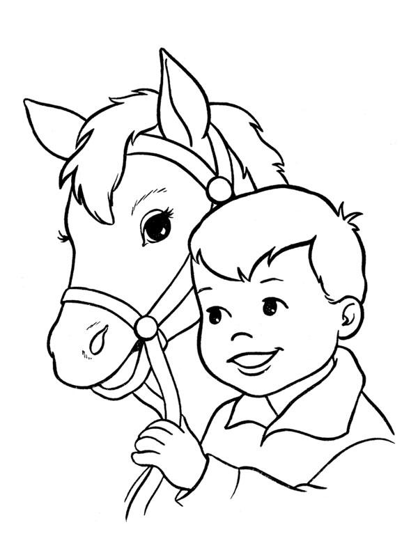 Dessin gratuit cheval à imprimer
