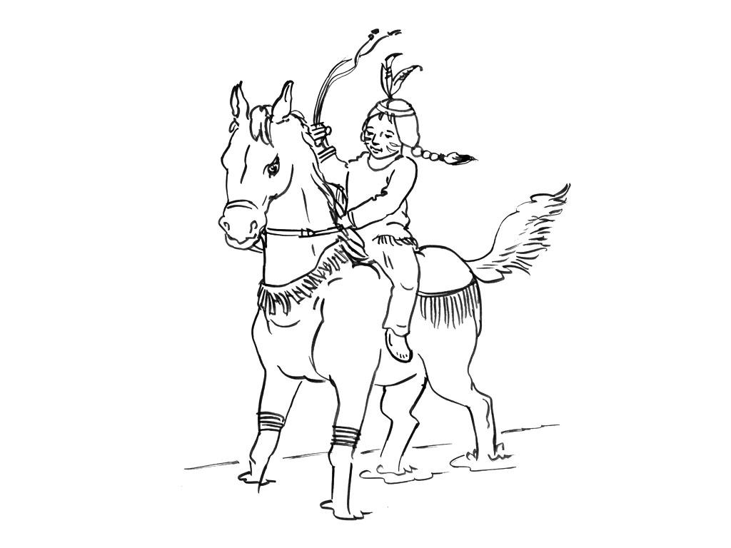 Dessin gratuit cheval a imprimer et colorier