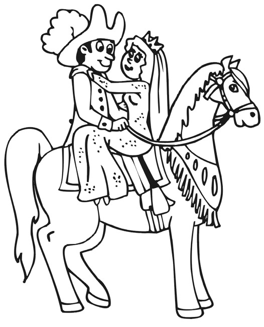Coloriage de cheval à colorier