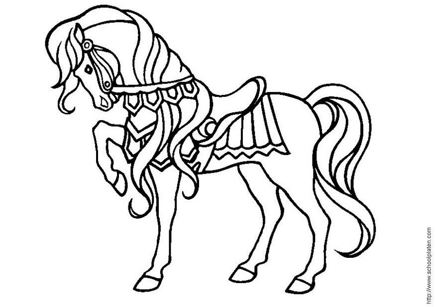 Coloriage de cheval gratuit