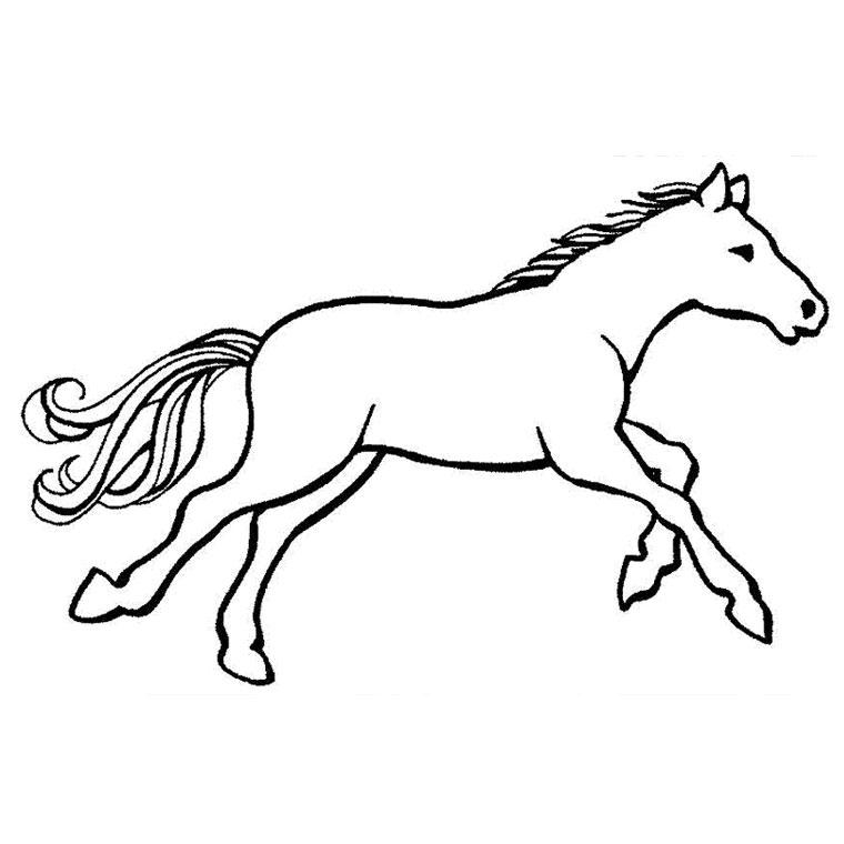 Coloriage de cheval à imprimer