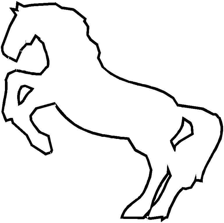 Coloriage cheval à imprimer