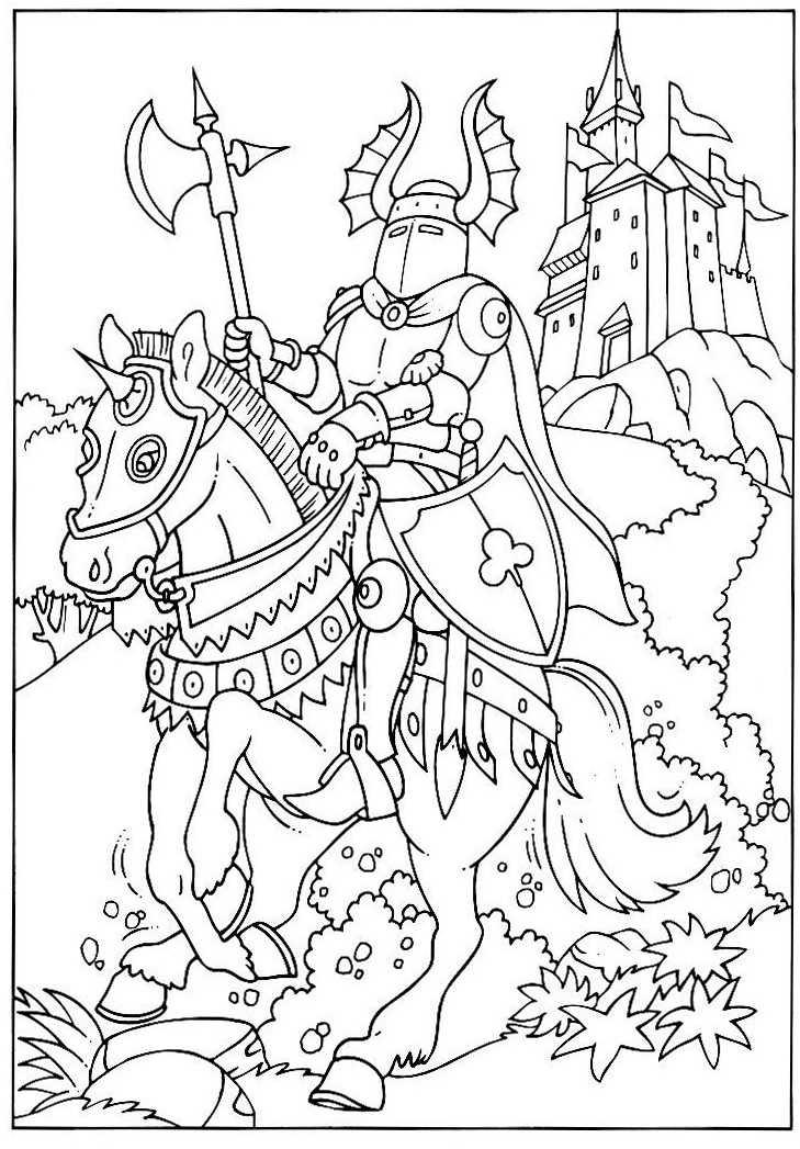S lection de dessins de coloriage chevalier imprimer sur - Dessin chevalier ...
