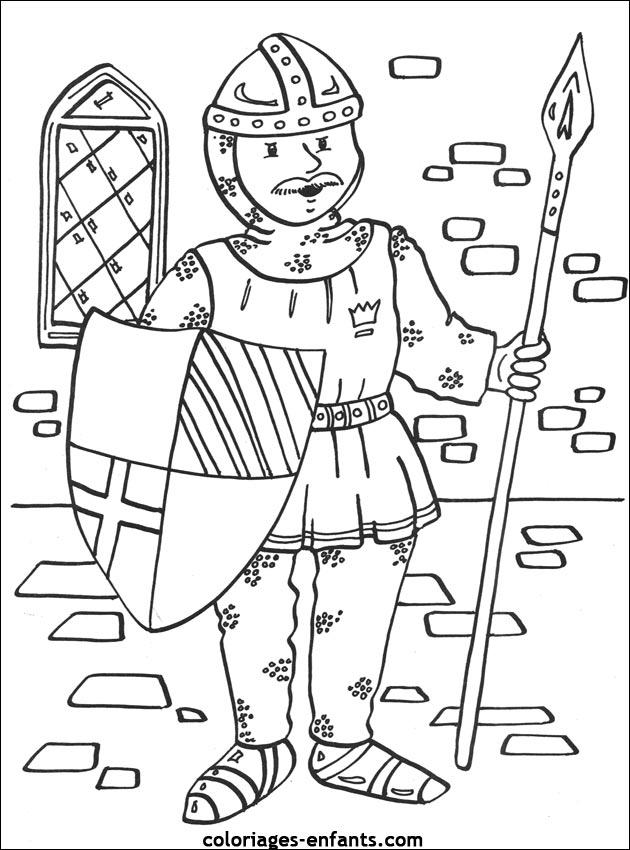 Coloriage Chevalier Gs.Selection De Dessins De Coloriage Chevalier A Imprimer Sur Laguerche