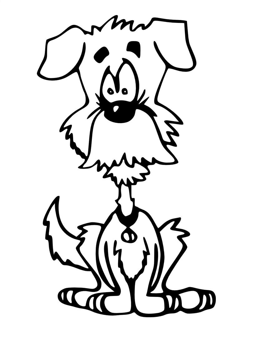 Coloriage de chien gratuit à imprimer et colorier