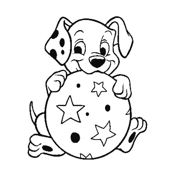 Coloriage de chien gratuit à imprimer