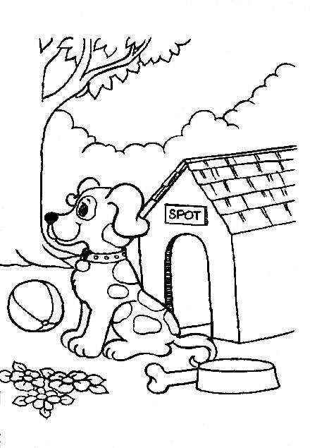 Image de chien a imprimer et colorier