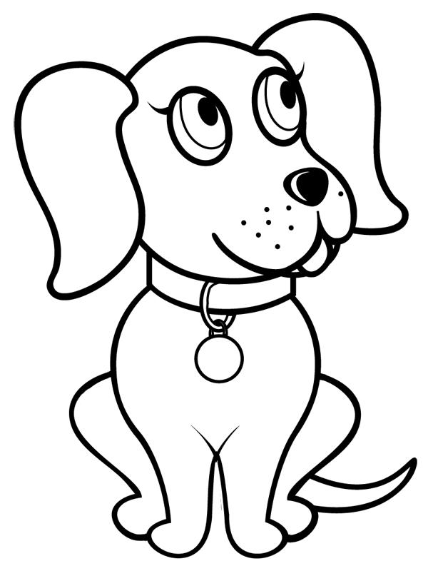 Jeux de coloriage chien à imprimer