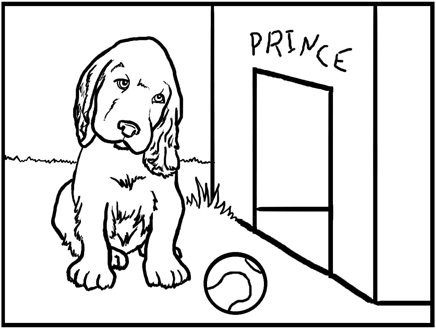 Dessin de chien a colorier et imprimer