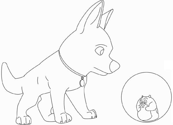 Coloriage de chien a colorier