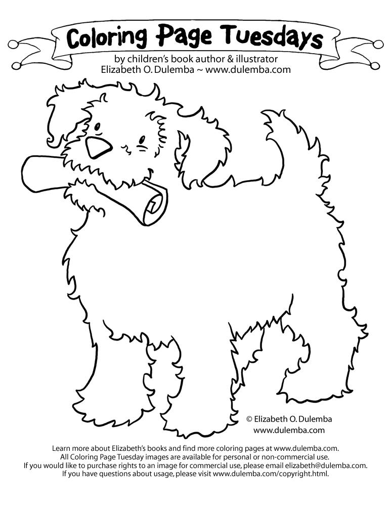 Dessin de chien pour imprimer et colorier
