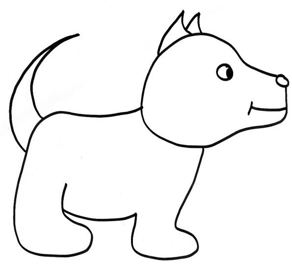 Coloriage gratuit de chien a imprimer