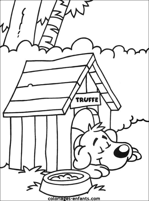 Coloriage de chien a imprimer