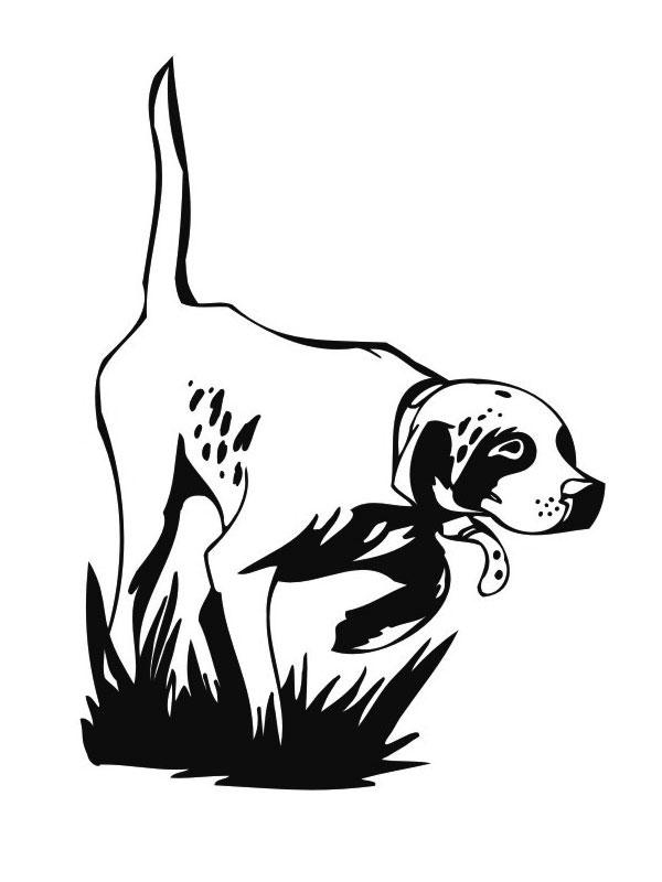 Coloriage de chien