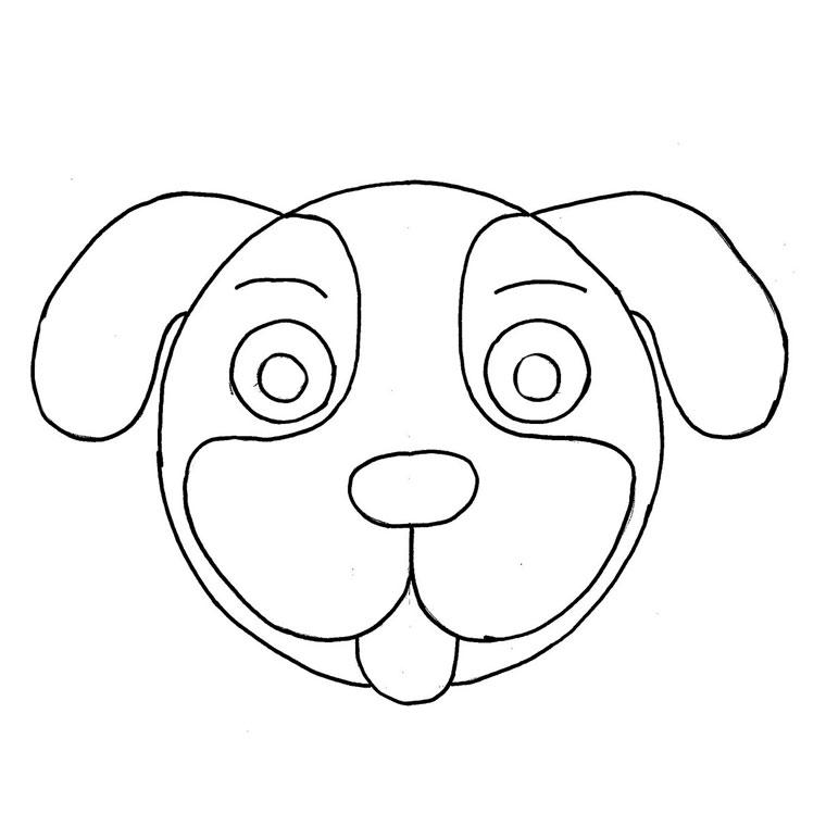 Image de chien a colorier