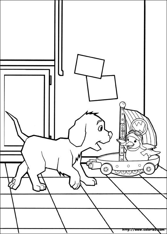 Dessin gratuit de chien a imprimer