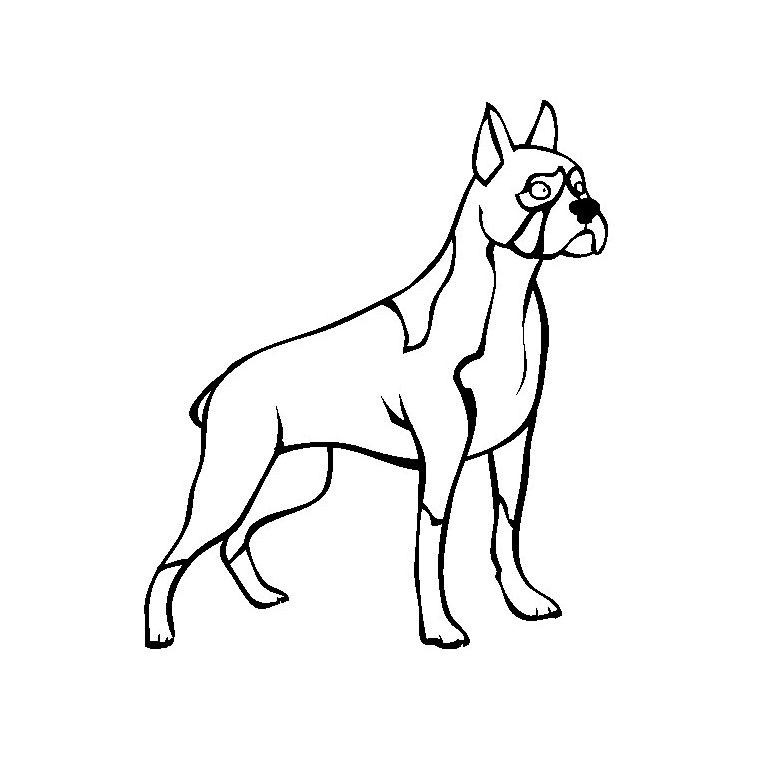 Coloriage de chien gratuit a imprimer