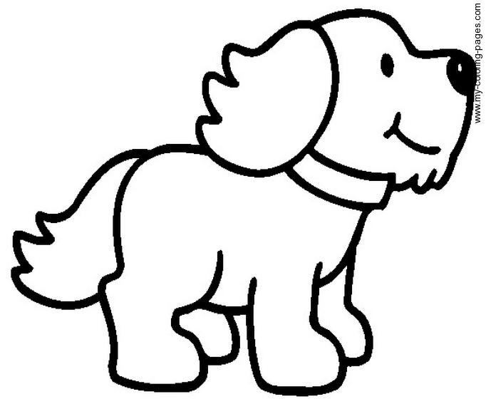 Dessin de chien gratuit a imprimer et colorier