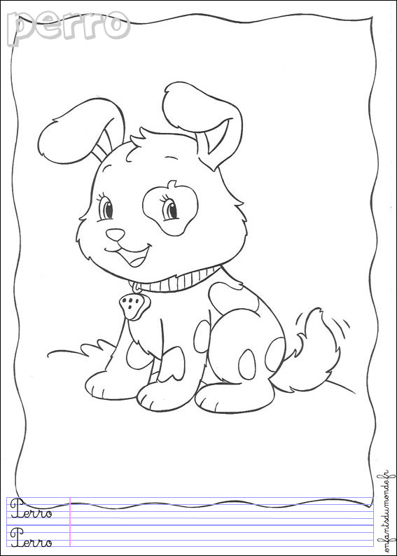 Coloriage de chien imprimer et colorier