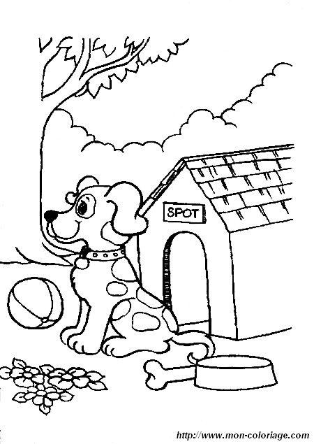 Coloriage chien a colorier