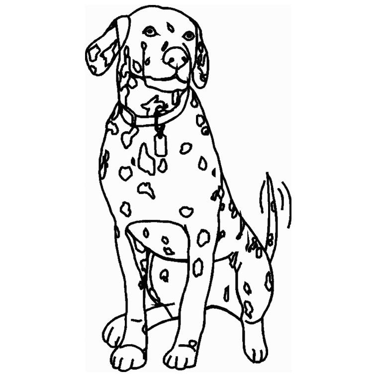 Dessin gratuit de chien a imprimer et colorier