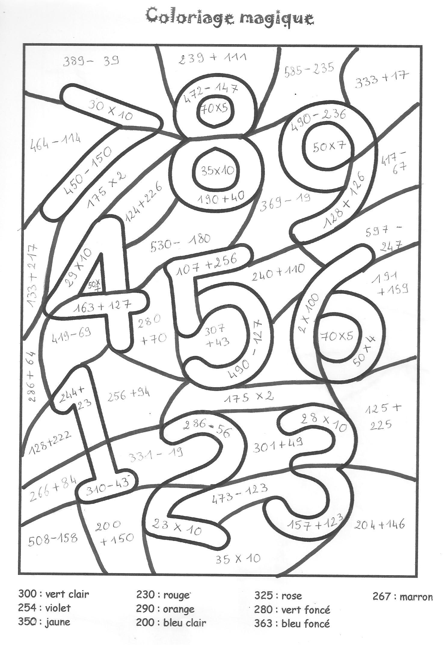 51 Dessins De Coloriage Chiffres A Imprimer Sur Laguerche Com Page 1