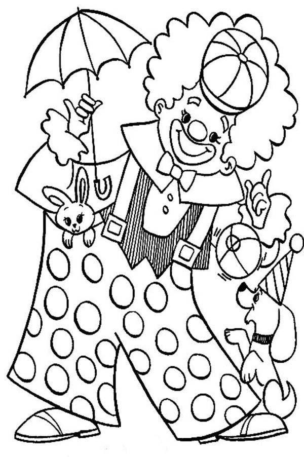 thanksgiving coloring pages funny clowns - photo#10