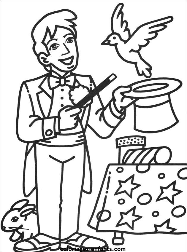 14 dessins de coloriage cirque magicien imprimer sur - Coloriage magie ...