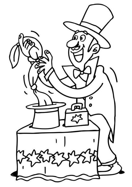 image 19432 coloriage cirque magicien gratuit