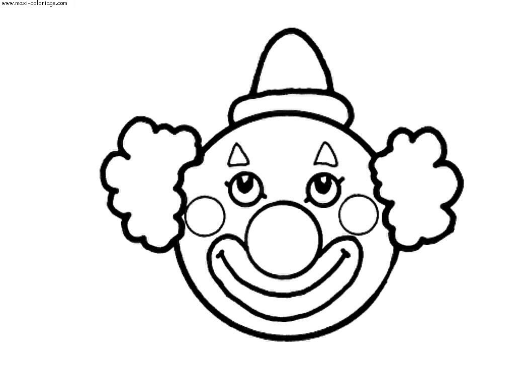 Coloriage Clown Hiver.Dessin Simple Clown