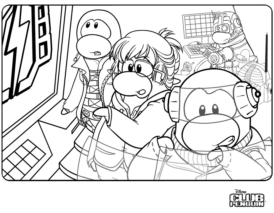 Dessin #11309 - Coloriage de club penguin a colorier