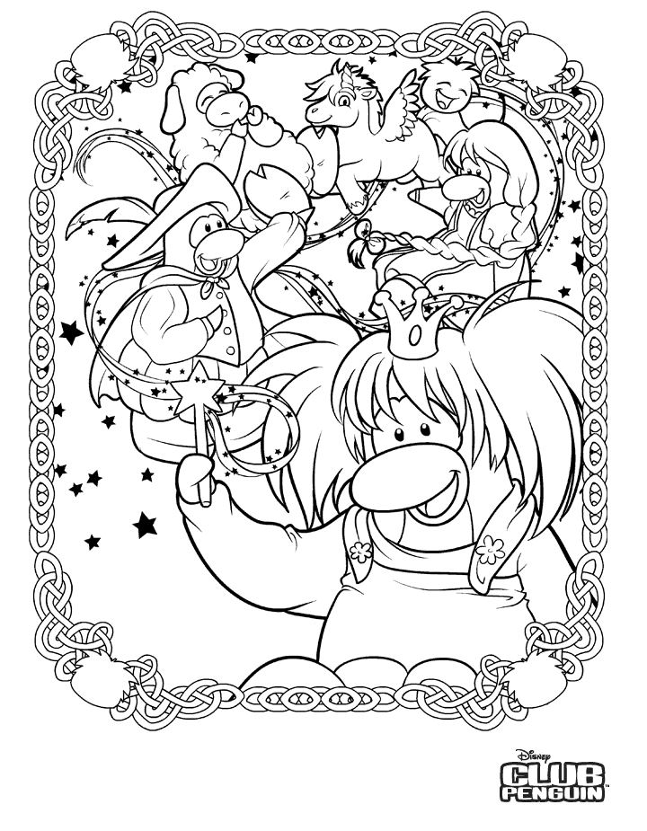 Dessin #11348 - coloriage de club penguin