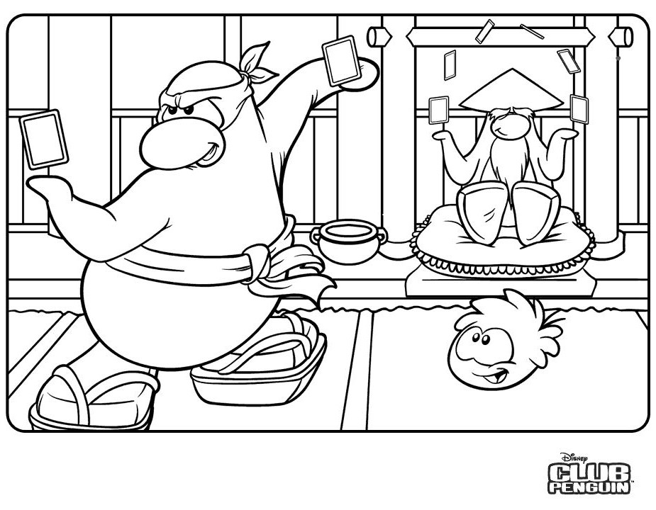 club penguin coloring page - s lection de dessins de coloriage club penguin imprimer