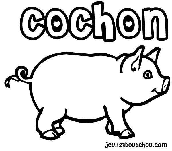 S lection de coloriage cochon imprimer sur - Dessin cochon mignon ...