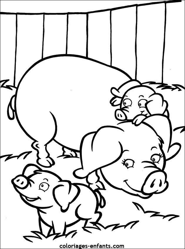 Coloriage Ferme Cochon.Selection De Coloriage Cochon A Imprimer Sur Laguerche Com Page 2