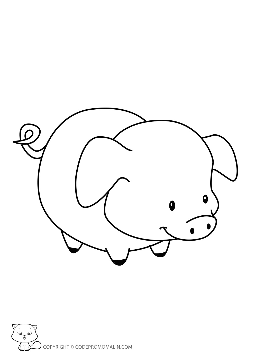 S lection de coloriage cochon imprimer sur - Dessin a imprimer cochon ...