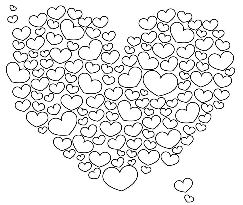 111 dessins de coloriage coeur imprimer sur page 11 - Coloriage de coeurs ...