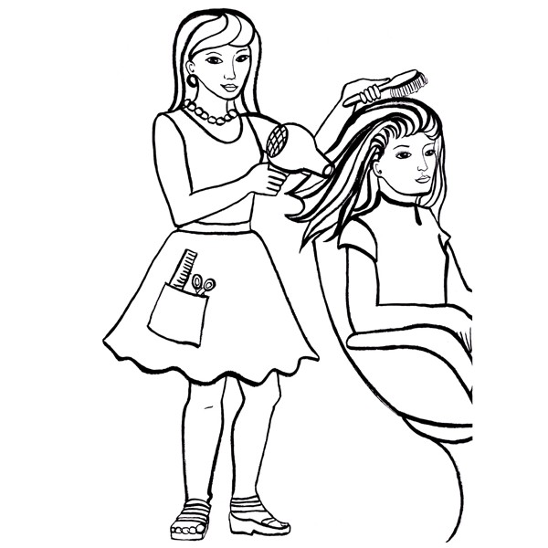 24 dessins de coloriage coiffeur imprimer sur laguerche