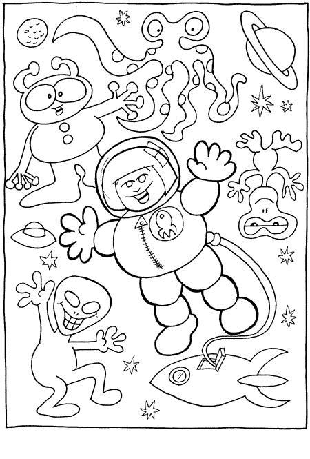 24 dessins de coloriage cosmonaute à imprimer sur ...