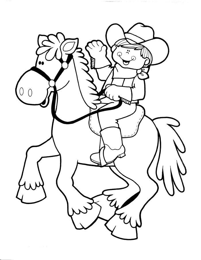 western coloring pages for preschoolers - photo#19