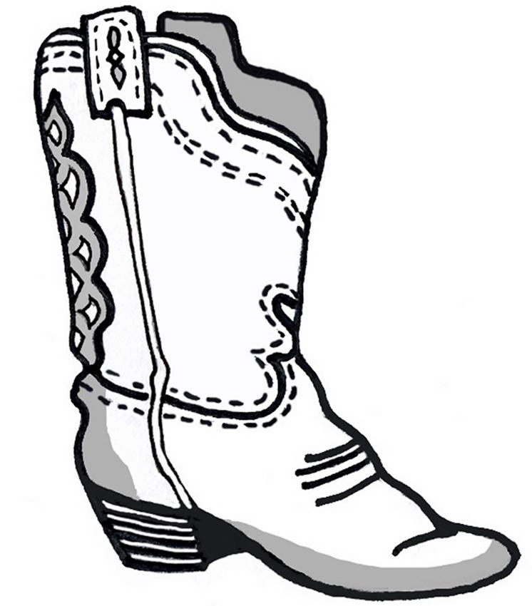 Bottes de cowboy dessin - Bottes coloriage ...