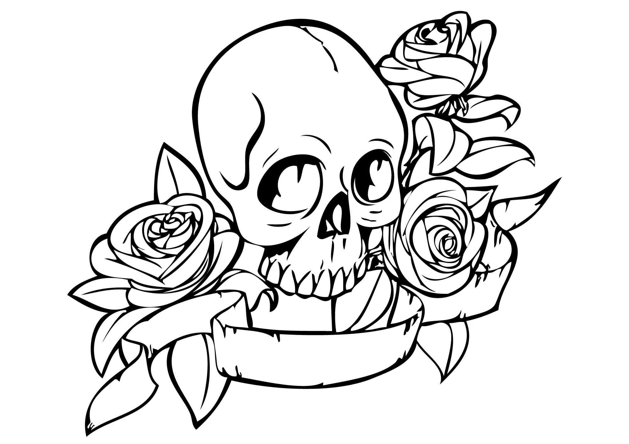 Free Skulls Roses Coloring Pages Skulls And Roses Coloring Pages
