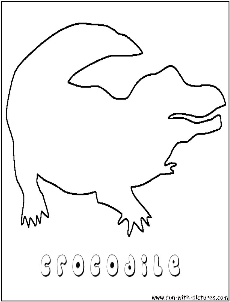Coloriage crocodile a imprimer