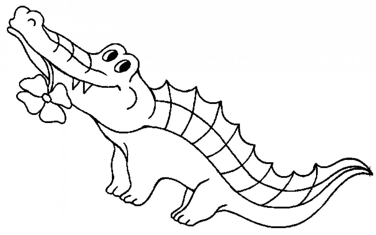 Dessin gratuit crocodile a colorier