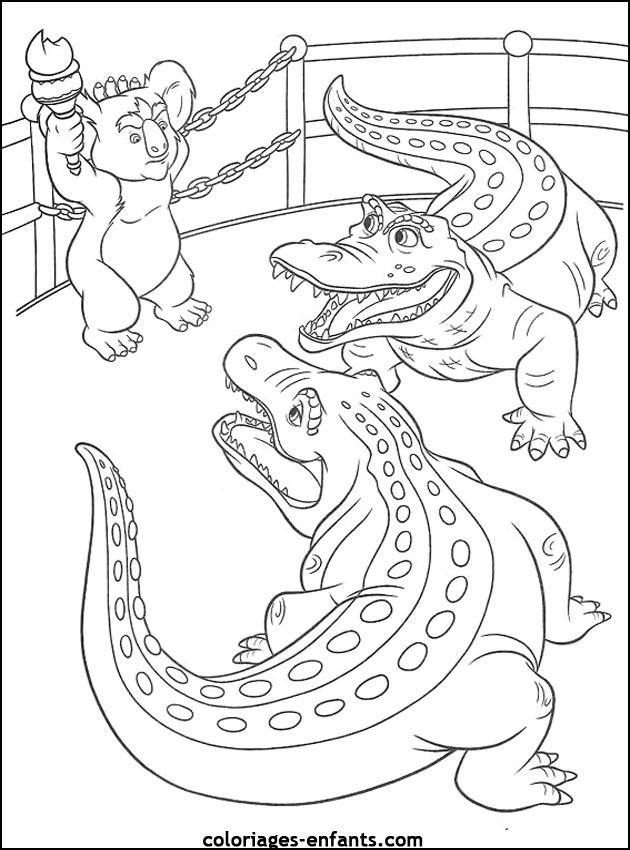 Dessin gratuit crocodile a imprimer