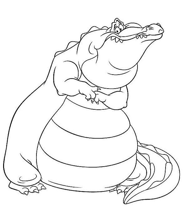 Coloriage gratuit de crocodile à imprimer