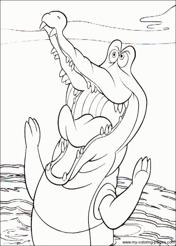 Dessin gratuit de crocodile a colorier