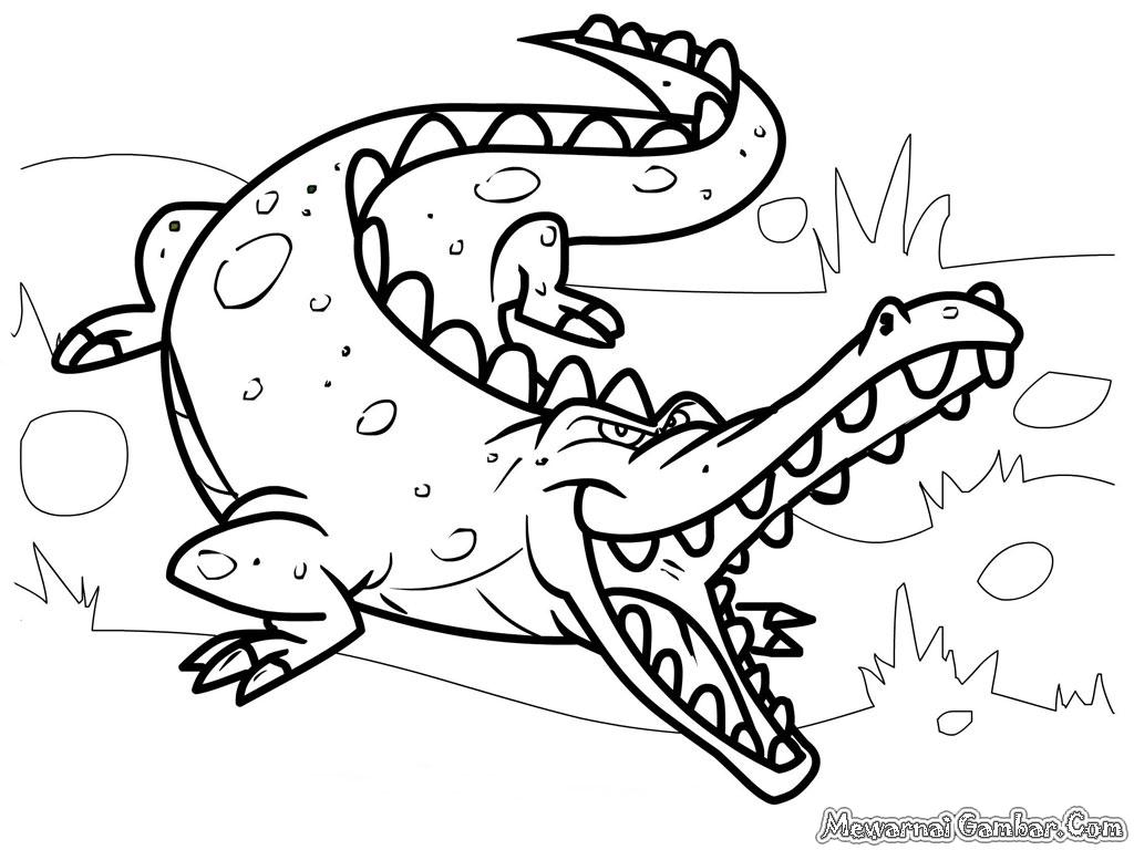 Dessin de crocodile à imprimer