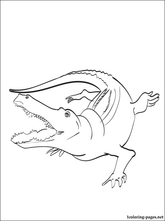 Coloriage de crocodile gratuit