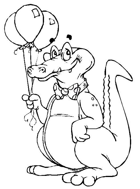 Dessin de crocodile a colorier et imprimer